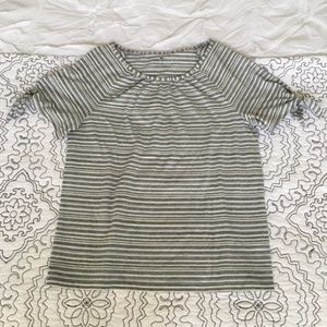 Talbots Pinstriped blouse
